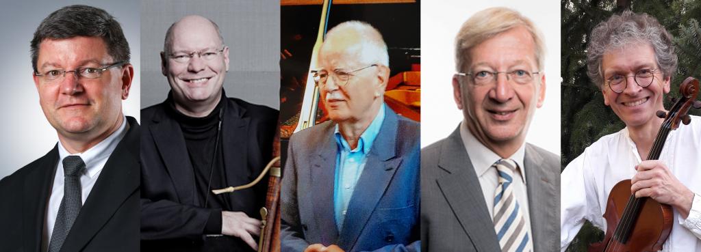 Der Vorstand: Stephan Sebald, Wolfgang Peßler, Prof. Ulf Klausenitzer, Manfred Busch, Christian Heller